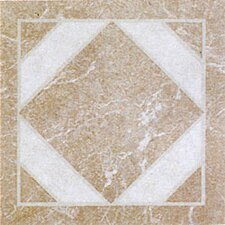 "12"" x 12"" Vinyl Tile in Light Marble Diamond"