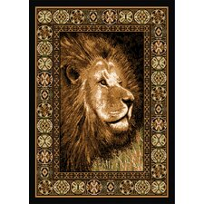 Zone Lion Ebony Novelty Rug