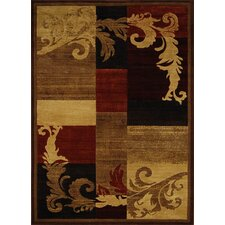 Catalina Light Brown/Red Rug