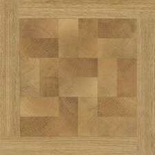 "16"" x 16"" Vinyl Tiles in Paramount Woodtone Parquet Design"