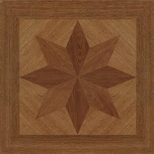 "16"" x 16"" Vinyl Tiles in Paramount Woodtone Star Design"