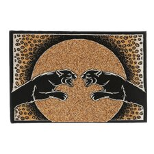 Zone Panther Animal Print Novelty Rug