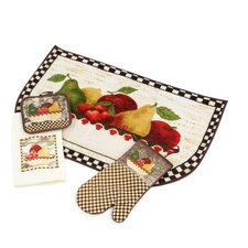 <strong>Home Dynamix</strong> Antique Fruit Bowl 4 Piece Kitchen Set