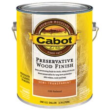 <strong>CabotStain</strong> 1 Gallon Redwood Preservative Wood Semi-Transparent
