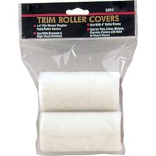 "3"" X 1/4"" Draylon Mini Trim Roller Covers Twin Pack RC00324"
