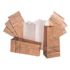 20 Kraft Paper Bag in Brown with 500 Per Bundle