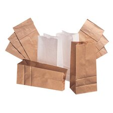 10 Paper Bag in White with 500 Per Bundle