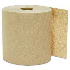 "8"" x 800' Kraft Hard-wound Roll Towels"