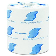 Standard 1-Ply Toilet Paper - 1000 Sheets per Roll / 96 Rolls