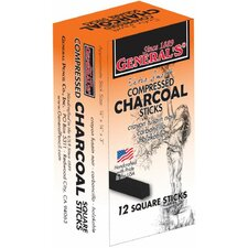 Compressed Charcoal 2B Stick (Set of 12)