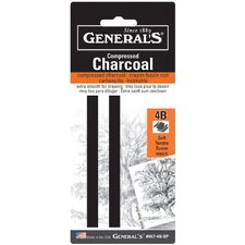 Compressed Charcoal 4B Stick Blister Carded (Set of 2)