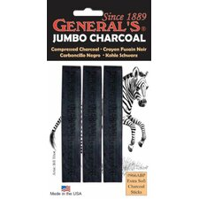 Jumbo Charcoal 6B Stick (Set of 3)