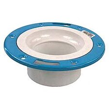 "4"" x 3"" Sch. 40 PVC-DWV Closet Flange with Adjustable Ring"