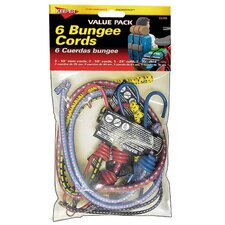 <strong>Hampton Products International</strong> Multi Pack Bungee Cord (Set of 6)