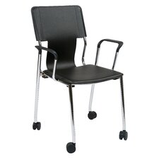 Dorado Mid-Back Desk Chair with Casters (Set of 2)
