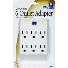 <strong>HelpingHand</strong> Grounding 6 Outlet Adapter