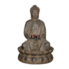 <strong>Alpine</strong> Tao Buddha Cast Resin Fountain