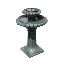 Solar Birdbath Fountain Leaf Mountain