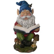 <strong>Alpine</strong> Gnome Reading Book Statue