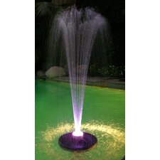 Floating Spray Fountain with 48 LED Lights and 550 GPH Pump