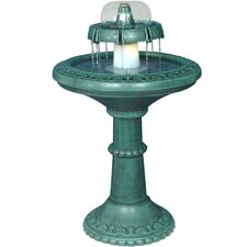 2 Tiered Fountain with Light