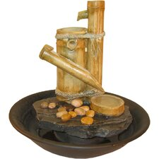 <strong>Alpine</strong> Large Eternity Bamboo Slide Tabletop Fountain