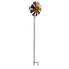 Iron Windmill Garden Stake