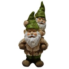 <strong>Alpine</strong> Two Gnomes Playing Garden Statue