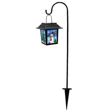 <strong>Alpine</strong> Solar Snowman Lantern with 1 LED Light