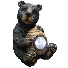 Bear with Solar Light Garden Statue