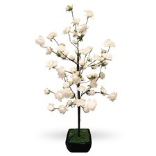 <strong>Alpine</strong> Rose Tree Branch Statue with 64 LED Lights