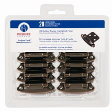 <strong>HickoryHardware</strong> Project Pack Surface Self-Closing Flush Hinge (Pack of 10)