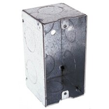 Single Gang Handy Steel Box with Conduit Knock Out