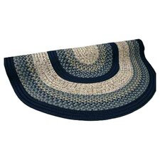 Beantown Charles River Blue Multi Round Rug