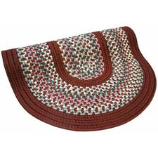Pioneer Valley II Indian Summer with Burgundy Solids Round Rug