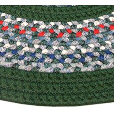 Pioneer Valley II Carribean Blue with Dark Green Solids Multi Runner Outdoor Rug