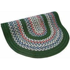 Pioneer Valley II Carribean Blue with Dark Green Solids Multi Round Outdoor Rug