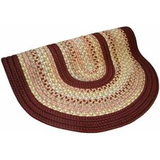 Pioneer Valley II Buckskin with Burgundy Solids Round Rug