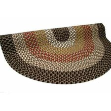 Green Mountain Log Cabin Brown Multi Round Rug