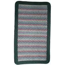 Pioneer Valley II Caribbean Blue with Dark Green Solids Multi Square Rug