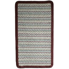 Green Mountain Farmers Market Maroon Multi Square Rug