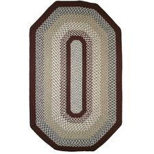 Green Mountain Farmers Market Maroon Multi Elongated Octagon Rug