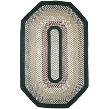 Green Mountain Balsam Fir Green Multi Elongated Octagon Rug