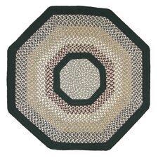 Green Mountain Balsam Fir Green Multi Octagon Rug