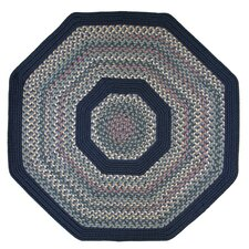 Pioneer Valley II Meadowland Blue with Dark Blue Solids Multi Octagon Outdoor Rug