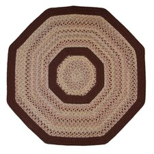 Pioneer Valley II Buckskin with Burgundy Solids Octagon Rug