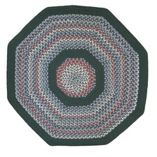 Pioneer Valley II Carribean Blue with Dark Green Solids Multi Octagon Outdoor Rug