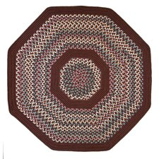 Pioneer Valley II Indian Summer with Burgundy Solids Octagon Rug