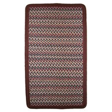 Pioneer Valley II Indian Summer with Burgundy Solids Braided Square Rug