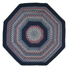 Pioneer Valley II Olympic Blue with Dark Blue Solids Multi Octagon Rug